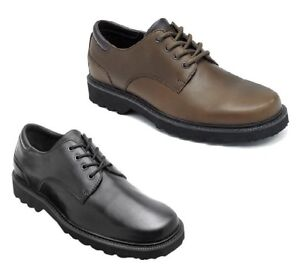 a5dfae150 Rockport Northfield Men s Waterproof Shoes Plain Toe Leather Lace Up ...