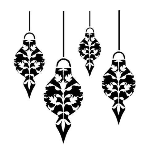 "6 x 6 /"" Christmas Baubles Jewel 190m durable Mylar Stencil 8 x 8 /"" 12 x 12/"""