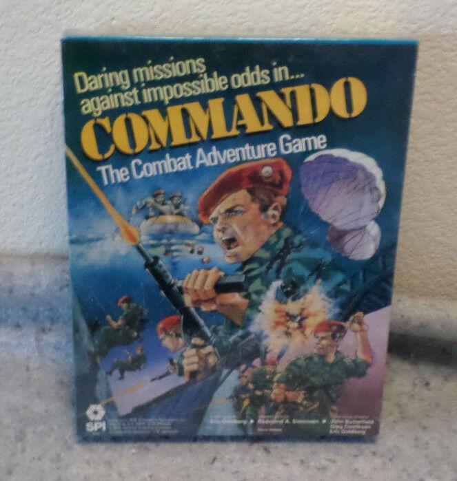 Commando-le combat jeu d'aventure-RPG-inutilisées-SPI - 1979 neuf non ouvert Enveloppé