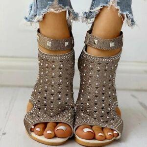 Sandale à talon compensé ouverte   / toute taille disponible