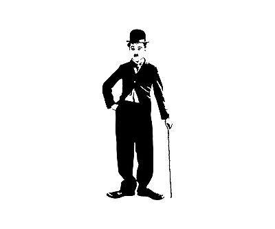 Charlie Chaplin Wandtattoo Schauspieler Aufkleber VIP Wohnzimmer Sticker 1T042_2