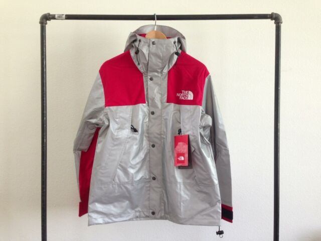 6b6beccdd SUPREME X THE NORTH FACE 3M MOUNTAIN PARKA REFLECTIVE SILVER RED JACKET TNF  L