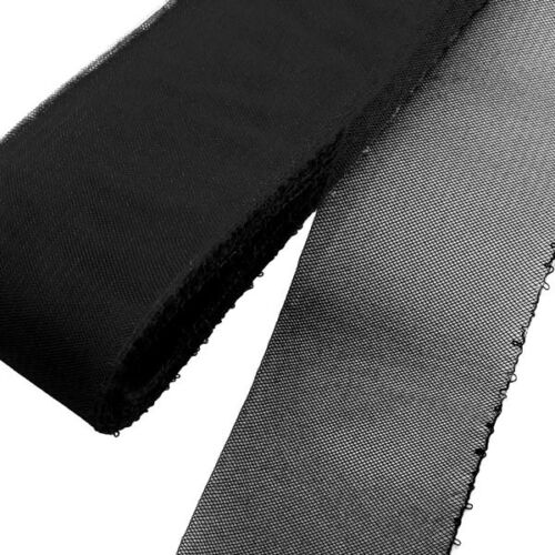"Black Threaded Horsehair Braid 6 yards Piece  2/"" Crinoline Trim 5 cm"