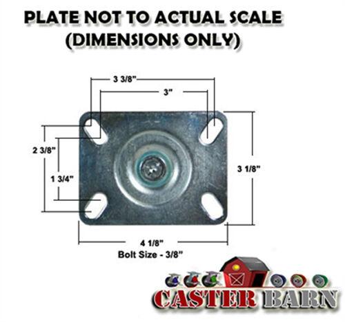"""350 LBS CAP - HI-TEMP 450F 4/"""" OVEN RACK CASTER"""
