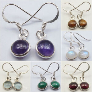 925-Pure-Silver-Real-Gemstones-TRADITIONAL-Earrings-Bestseller-Discount-Jewelry