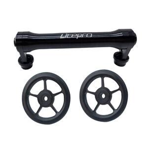 Extension EZ Wheel for Brompton Frame set Blk Alloy Easy Wheels Double Roller