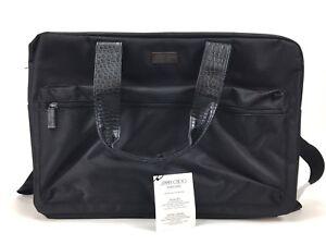 325110ee8c JIMMY CHOO Weekend Bag Sac Week-End Duffle Black faux leather | eBay