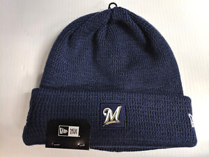422aea2cd12 Milwaukee Brewers New Era Knit Hat 19 Sport Clubhouse Beanie ...