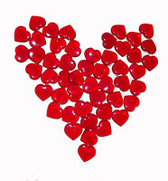 100 Red Acrylic Hearts Scatter Table Vase Decoration Wedding Valentine's Day