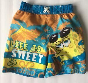 c83f53d755374 Spongebob Squarepants Swim Trunks 2T Toddler Boy Life Is Sweet Multi ...