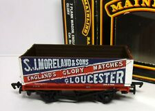 MAINLINE 37167 7 PLANK OPEN WAGON+LOAD S.J.MORLAND /& S0NS 1 RED+BLUE  00 GAUGE M