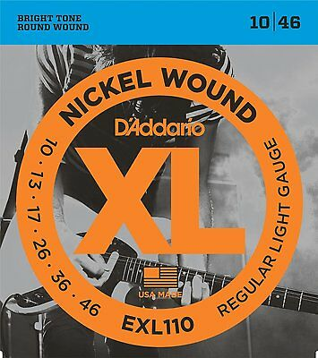 D'ADDARIO EXL110 NICKEL WOUND REGULAR LIGHT GAUGE 10-46 6 PACK (6 FULL SETS)