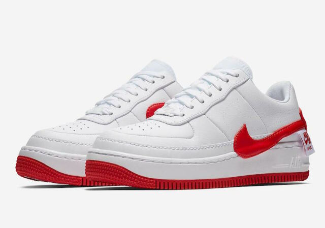 womens white and red air force 1