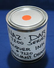 Nazdar 34s Quart 7220 Lacquer Screenprint Silkscreening Ink Brilliant Orange