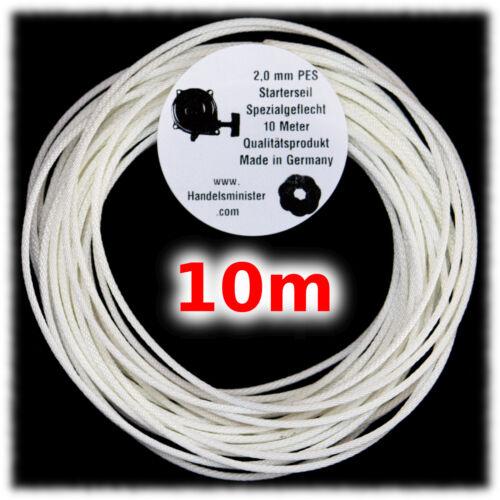 Hochwertiges 3mm Starterseil 10m Erstausrüsterqualität Spirallechtung Rasenmäher