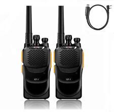 2pcs Baofeng GT-1 UHF 70cm Hand Funkgerät VOX FM PMR Radio + Programming Cable