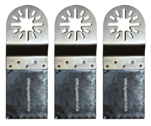 3 er Set Bi-Metall Sägeblatt 34 mm für Holz Plastik und Metalle Worx,E-Cut