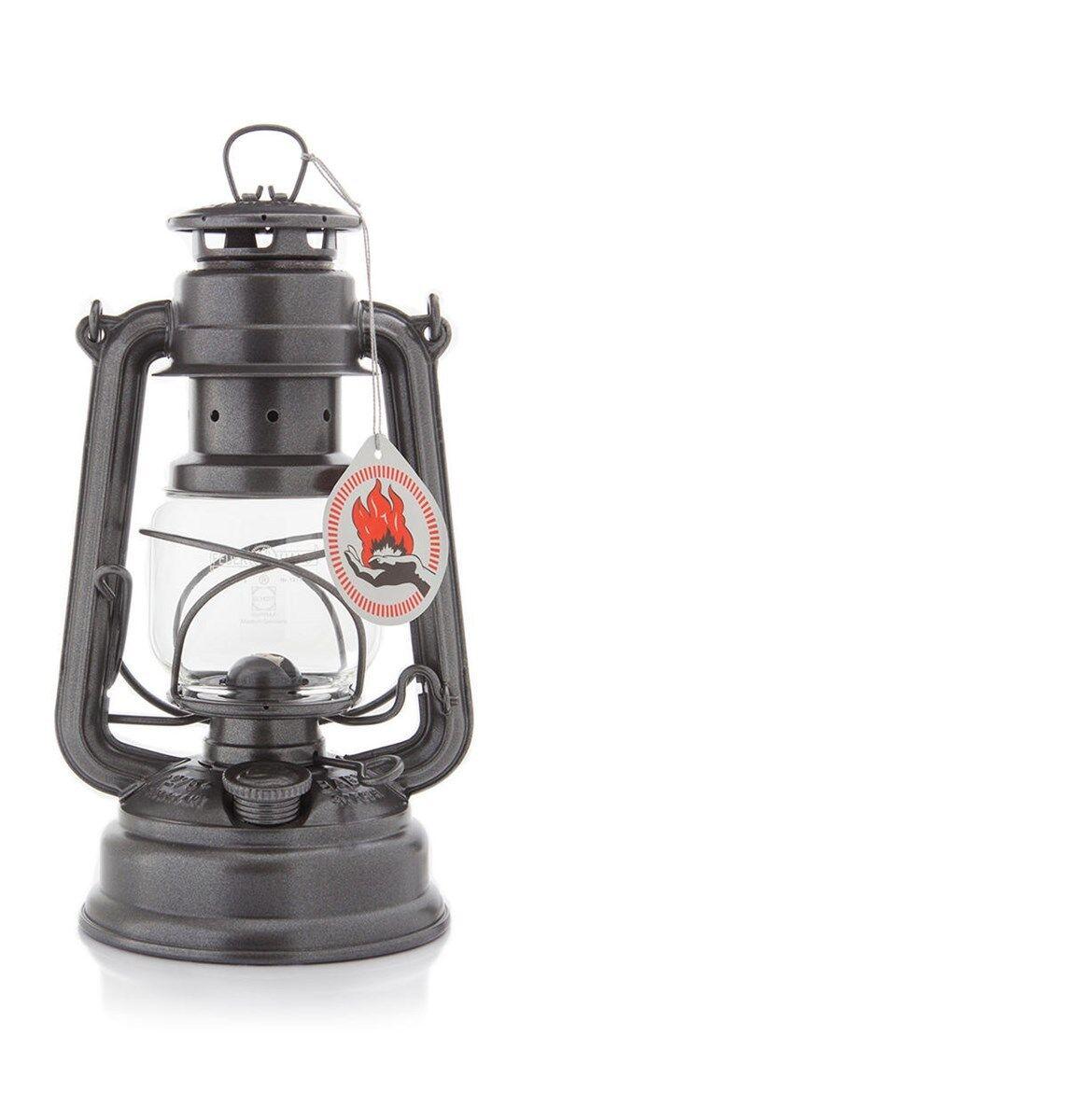 Sparkling Iron Feuerhand Hurricane Lantern Storm Lamp Camping Lamp Paraffin Lamp