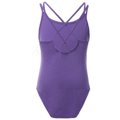 Girl Kid Gymnastics Ballet Leotard Dance Dress Lace Tank Top Bodysuit Dancewear