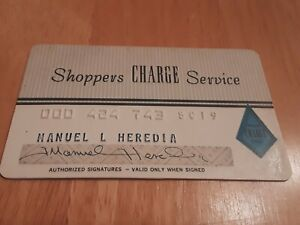Shoppers-Charge-Service-card-credit-card-grey-vintage-charge-card