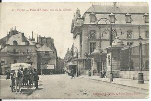 CPA-21-DIJON-Place-d-039-Armes-rue-de-la-liberte