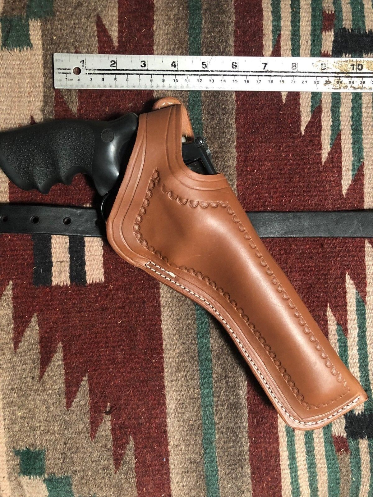 Fit S&W Model 27 29 625 627 629 6  Two Position Holster Cross Draw Tooled Border