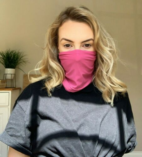 """Proskins SLIM Snood w// Silver Anti-bacterial Finish *Fuchsia Pink *UK Made *11/"""""""