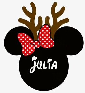 Disney Christmas Shirt Designs.Details About Disney Christmas Minnie Mouse Personalized Shirt Iron On Transfer