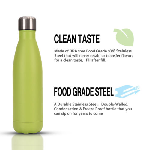 17oz Vacuum Insulated SS Stainless Steel Water Bottle Perfect Reusable Sports US