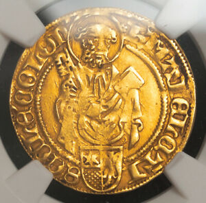 1480, Cologne (Archbishopric), Hermann IV of Hesse. Gold Gulden Coin. NGC XF-45!