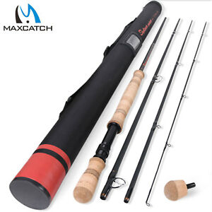 Maxcatch-Two-handed-Switch-amp-Spey-Fly-Fishing-Rods-Fast-Action-IM10-Carbon-Blank