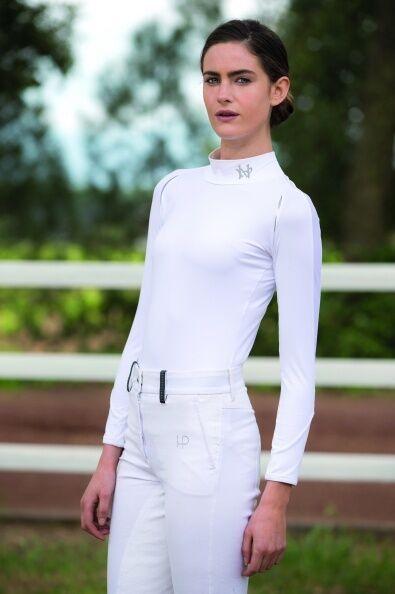 Horseware Donna Base Layer a maniche lunghe BiancoBlu MarinoNERO XXSXXL