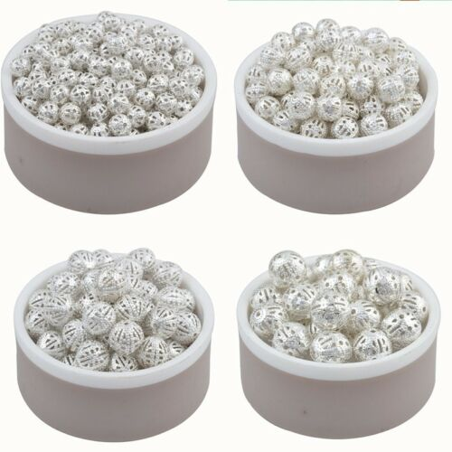 Lot Perle Rond Metal Charms Argente ou Dore Taille quantité et Couleur au choix