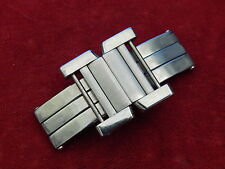 CARTIER SOLID STEEL TANK FRANCAISE CHRONOGRAPH BAND BRACELET 19MM LINK BUCKLE