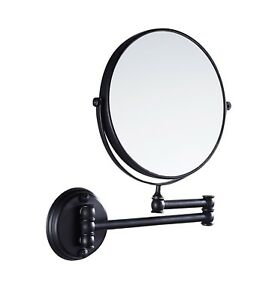Details About Bathroom 7 Wall Mount Mirror Magnifying Dual Sided 360 Swivel Extendable Black
