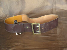 Vintage WWII WW2 Combat Military Leather Belt Officer