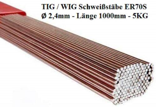 TIG Schweißstäbe Ø 2,4 x 1000 mm ER70S-6-3 Stäbe Stahl SG2 WSG2 5 KG 5KG WIG