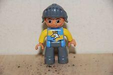 Lego Duplo Knight Figure with Helmet, and eagle on chest