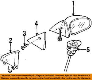 New OEM Ford Medium Heavy Truck Rear View Mirror /& Arm Bracket Assembly