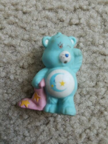 "Vintage Care Bears Bedtime Bear w Blanket 2.5/"" PVC Figure Kenner 1983 Figurine"