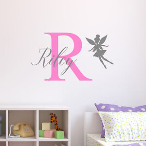 Image Is Loading Personalised Fairy Wall Sticker Wall Decal Childrens Kids