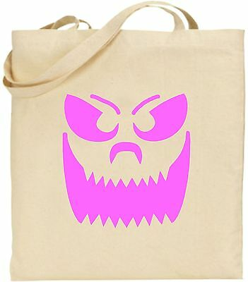 Groß Zähne Smiley Kürbis Gesicht Halloween Große Baumwoll-tragetasche Unheimlich