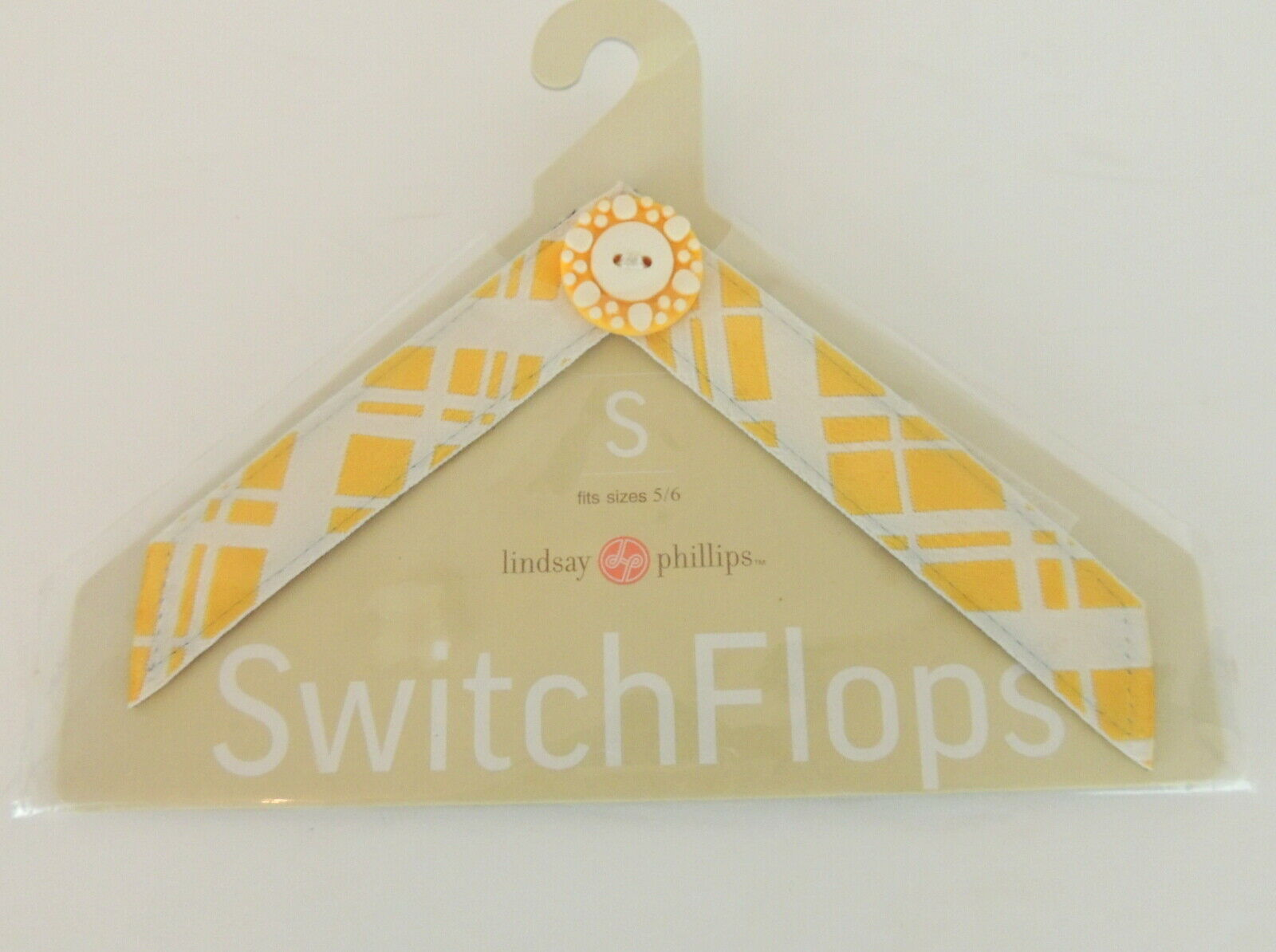 Lindsey- Phillips Switch Flops Womens S Yellow Plaid