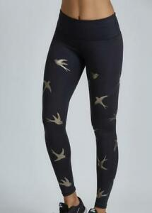 566da28f0cacc NOLI Yoga IMPACT GOLD BIRD Legging Workout PANTS Made in USA | eBay