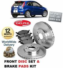 FOR FORD FIESTA ST150 2004-2009 FRONT DELPHI BRAKE DISCS SET & DISC PADS KIT