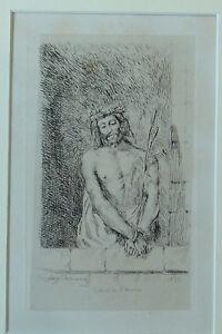 DELACROIX Eugène Le Christe au roseau 1833