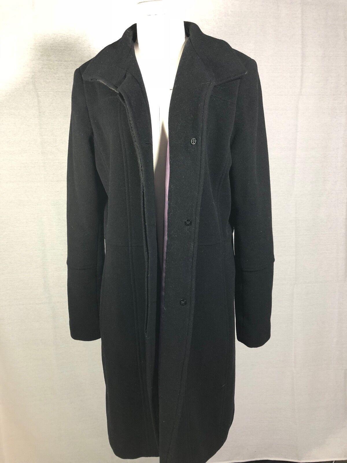 Marc New York Női téli borsó kabát kabát gyapjú Cashmere keverék Blk használt size12