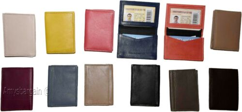 New women men/'s Leather Business card case ID//credit card fifty card holder NWT