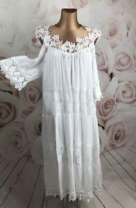 Blütentraum Off Shoulder Kleid Perlen Volant Spitze Italy ...