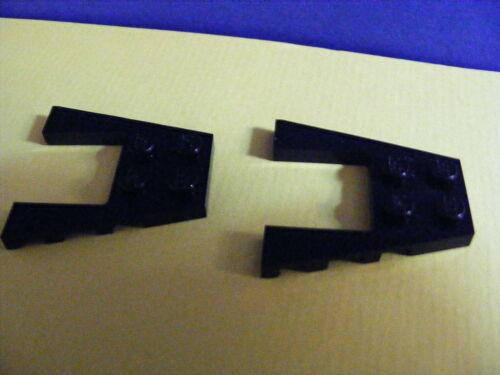 Platte-- Mit Ausschnitt Lego--43719-- Flügel 2 Stück-- Schwarz 4 x 4